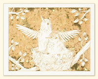 G502 Hummingbirds Laser Engraved Card with envelope White