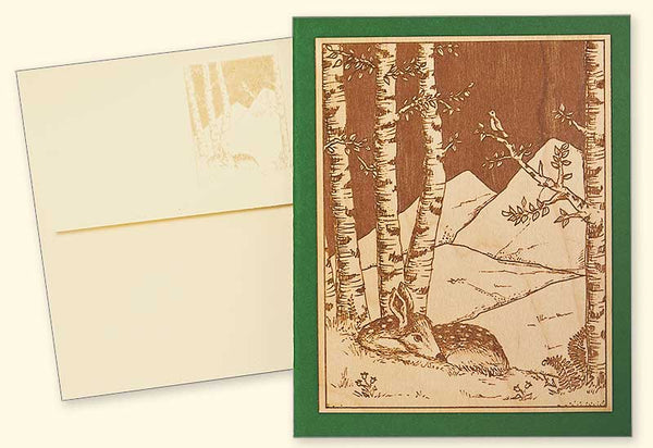 G525 Deer Wood Veneer Card