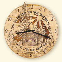 L186 St. Herman Laser Engraved Clock