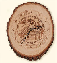 L313 St. Herman Rustic Clock, Large