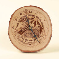 L313 St. Herman Rustic Clock, Desk Size