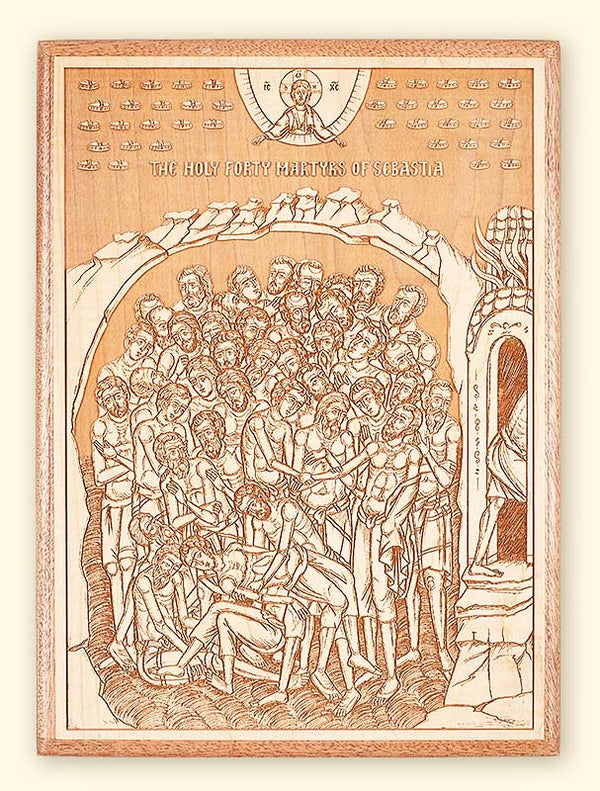 L247 Forty Martyrs Laser Engraved Icon