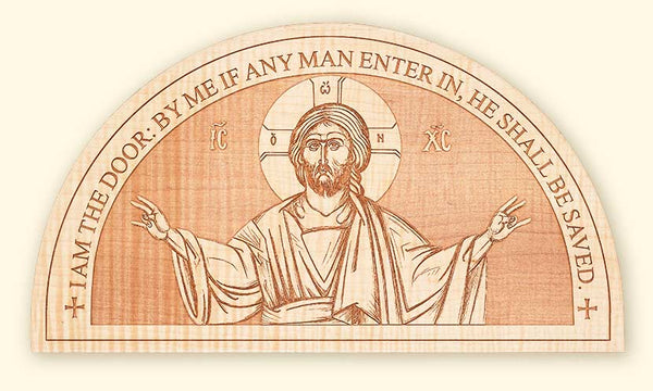L253 Our Saviour Semi-circular Laser Engraved Icon