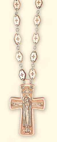 L259 Early Christian Style Pectoral Cross with Wooden Chain