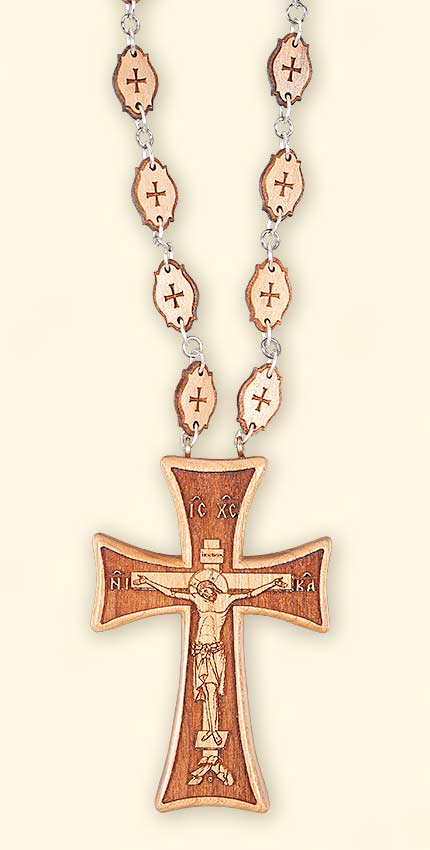 L258 Justinan Style Cherry Priest's Pectoral Cross, Front