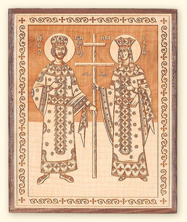 L252 Sts. Constantine and Helen Laser Engraved Icon