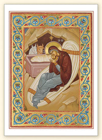 G268 Nativity Detail with Scroll Border Card