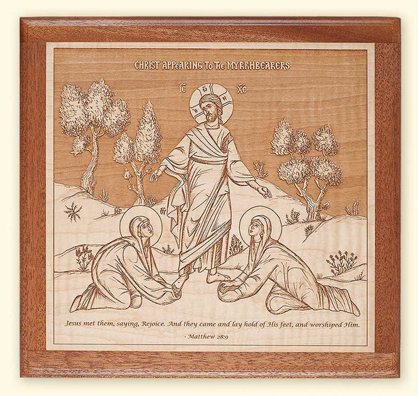 L2Jesus Christ Appearing to the Myrrhbearing Women Laser-engraved Icon