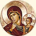 B220 Mother of God of Consolation Icon Button