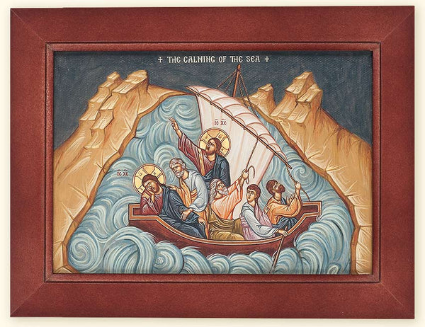 I-103 Saviour Calming the Sea of Galilee Framed Canvas Print