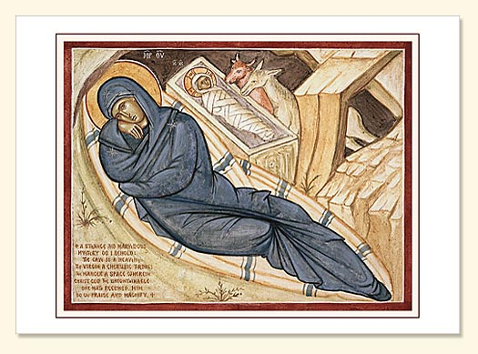 Nativity Fresco by Holy Nativity Convent printed greeting card