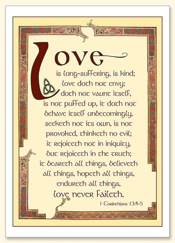 Love Never Faileth Card
