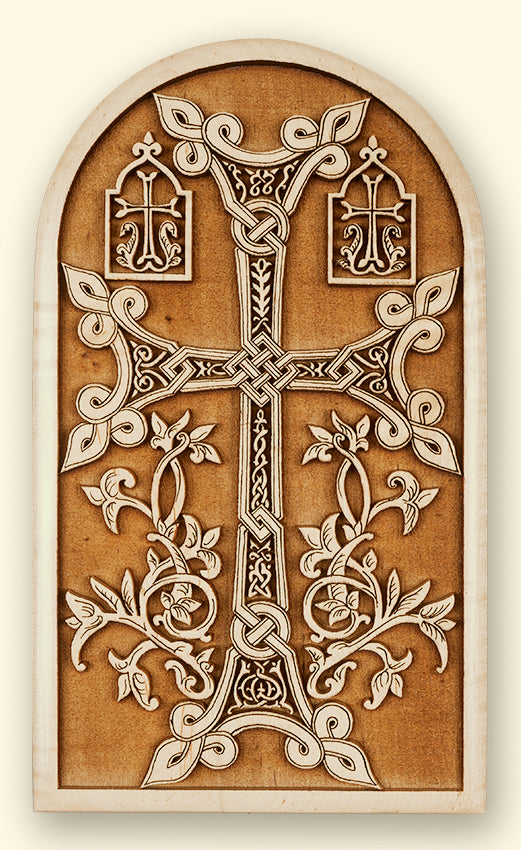 Armenian Cross Laser-Engraved Plaque