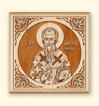 St. Antipas Laser-engraved Icon