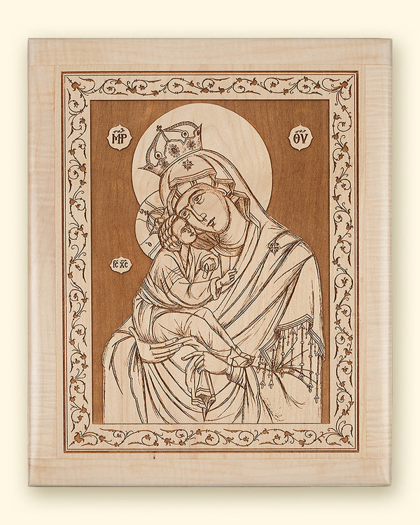 Mother of God of Pochaev Laser-engraved Icon