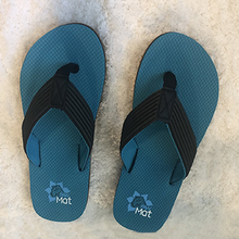 Load image into Gallery viewer, PawMat Pets | Ocean Blue Unisex Flip Flops