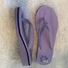 Load image into Gallery viewer, PawMat Pets | Lavendar Women's Flip Flops with Rhinestones