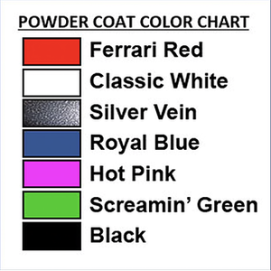 PawMat Pets | PetLift Masterlift Hydraulic Table with Rotating Top Powder Coat Color Chart