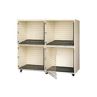 PawMat Pets | PetLift PROFESSIONAL VETERINARY & GROOMING CAGE BANKS - 4 UNITS