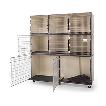 PawMat Pets | PetLift PROFESSIONAL VETERINARY & GROOMING CAGE BANKS - 8 UNITS