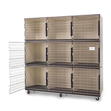 Load image into Gallery viewer, PawMat Pets | PetLift PROFESSIONAL VETERINARY & GROOMING CAGE BANKS  3 units by 3 units