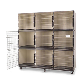 PawMat Pets | PetLift PROFESSIONAL VETERINARY & GROOMING CAGE BANKS  3 units by 3 units