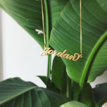 Load image into Gallery viewer, Custom Message - CLASSIC SCRIPT NECKLACE