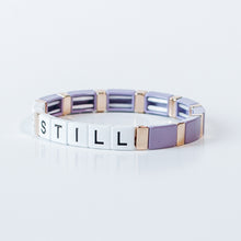 Load image into Gallery viewer, Block Bracelet - BE STILL