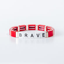 Load image into Gallery viewer, Block Bracelet - BRAVE