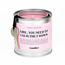 Load image into Gallery viewer, CALM DOWN - TIN CANDLE