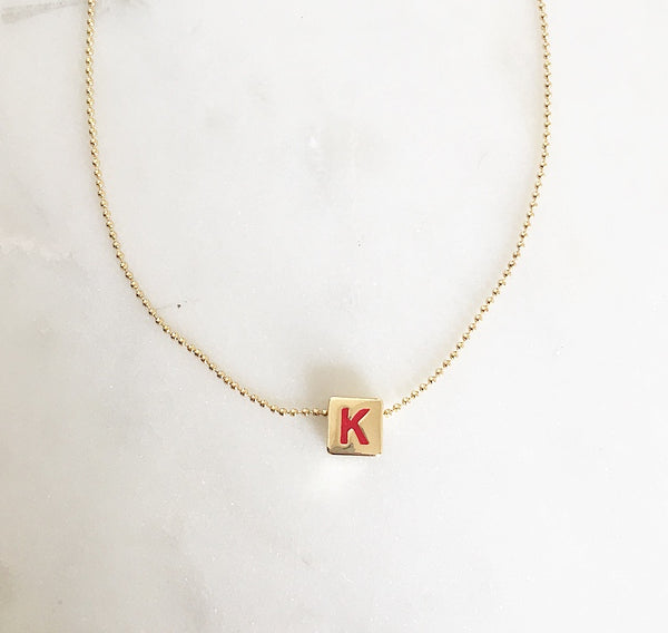 Custom Initial - BLOCK NECKLACE