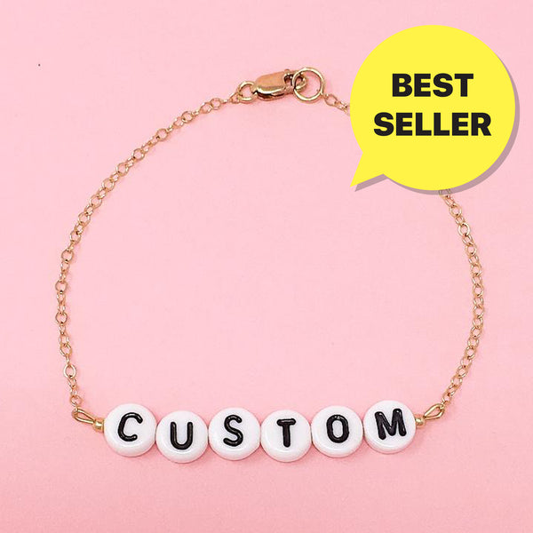 Custom Message -  GOLD OR SILVER CHAIN BRACELET