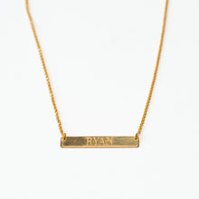Load image into Gallery viewer, Custom Message -  BAR NECKLACE