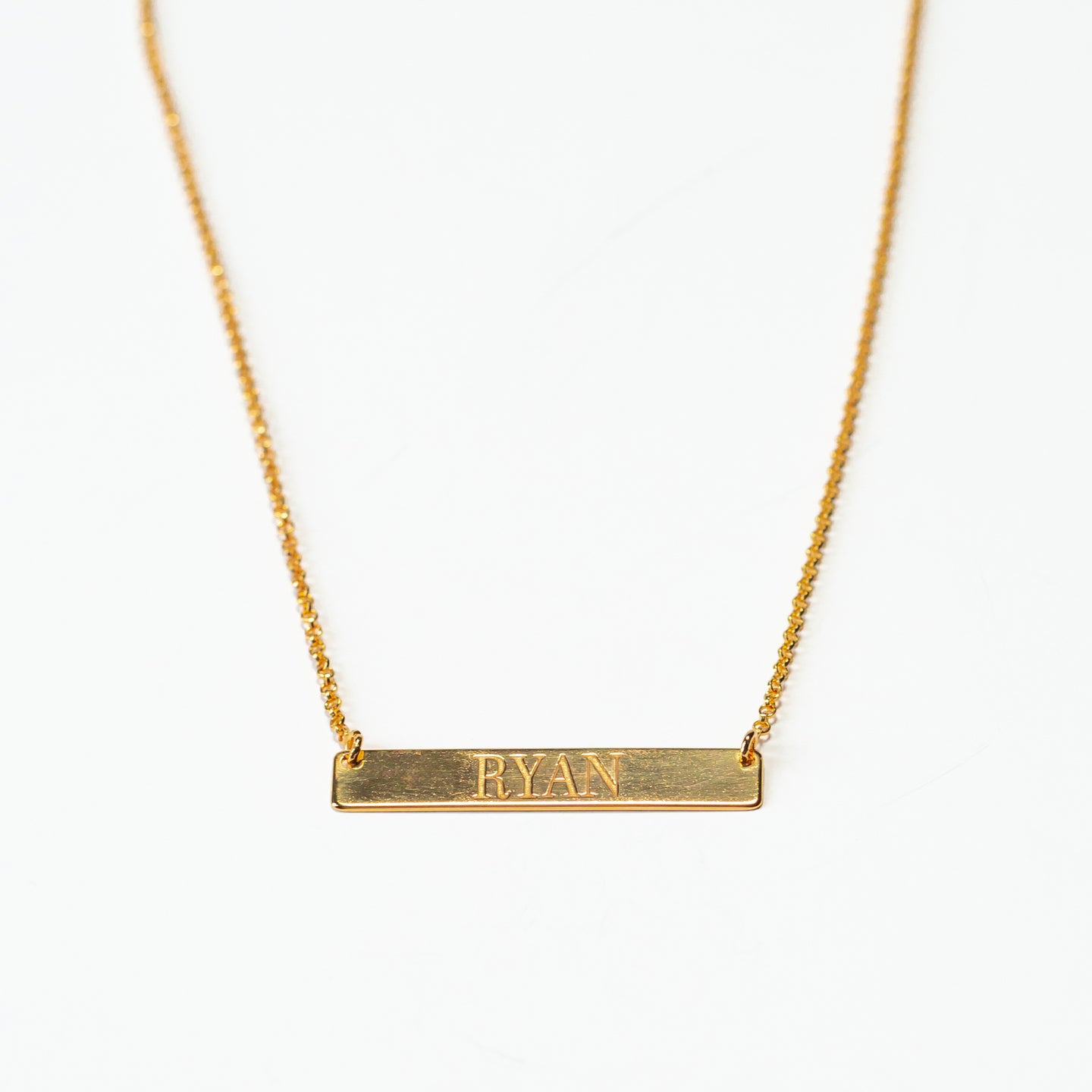 Custom Message -  BAR NECKLACE