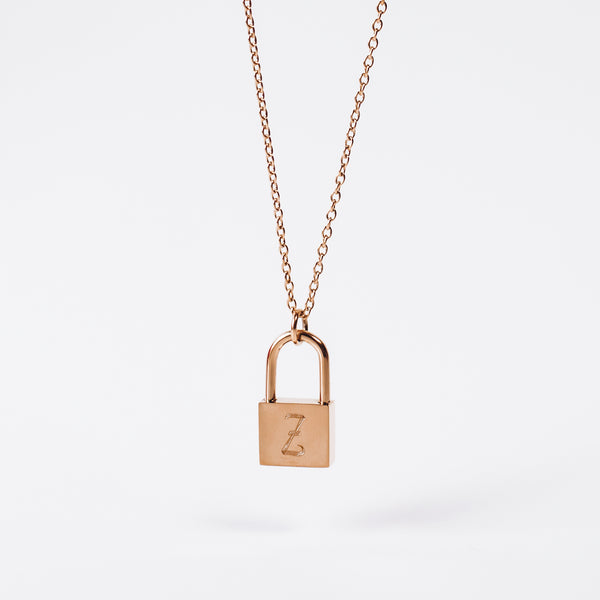 Custom Initial - PADLOCK NECKLACE