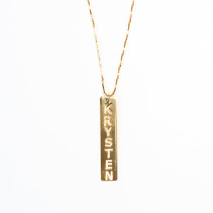 Custom Message - VERTICAL PENDANT NECKLACE