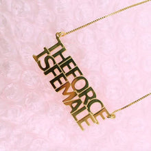 Load image into Gallery viewer, Custom Message - BLOCK NECKLACE