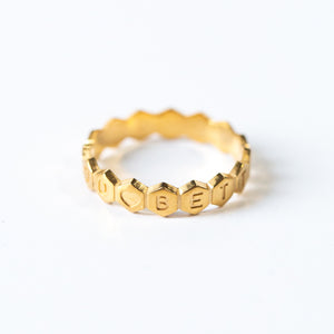 Custom Message - JAGGED EDGE RING