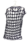 3.1 Phillip Lim Black Knotted Rope Sleeveless Tunic Top FW2015