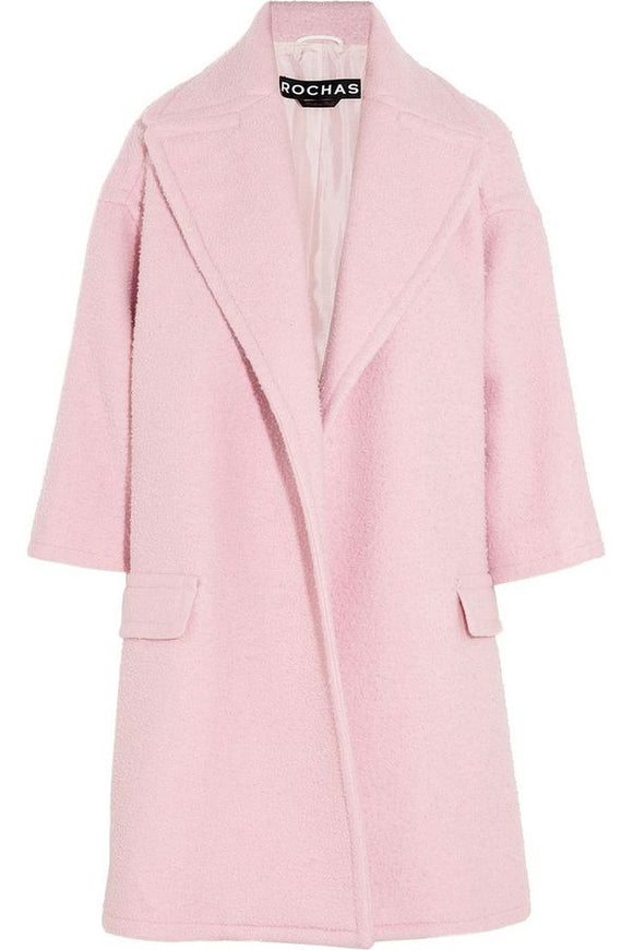 Rochas Pink Teddy Oversize Wrap Coat - BOUTIQUE PURCHASE PRICE