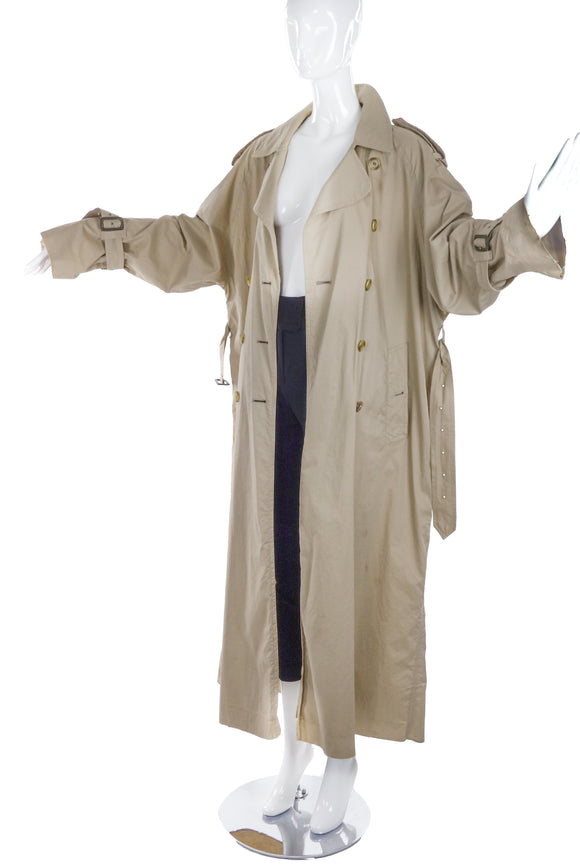Burburry Extreme Oversize Classic Trench Coat with Raw Edges