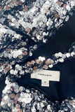 Carven Silver Sequin One Shoulder Dress