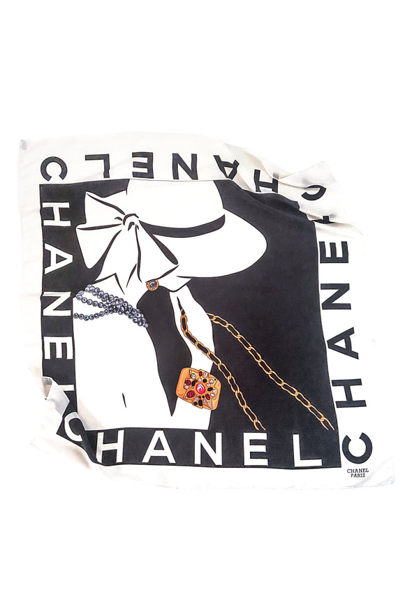 Chanel Silk Mademoiselle with Verdura Cuff Scarf