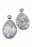 "Custom Silver ""Shattered Mirror"" Oversize Statement Earrings"