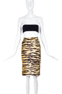 D&G by Dolce & Gabbana Tiger Print Pencil Skirt - BOUTIQUE PURCHASE PRICE