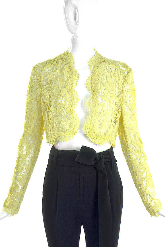 Emilio Pucci Yellow Lace Bolero - BOUTIQUE PURCHASE PRICE