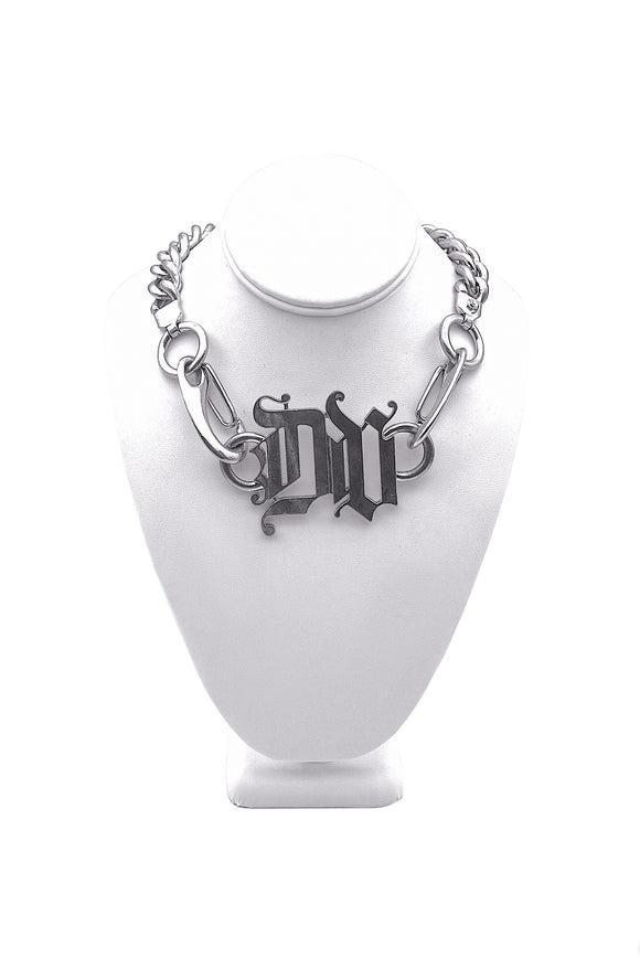 Versace Silver Large Chain Necklace with