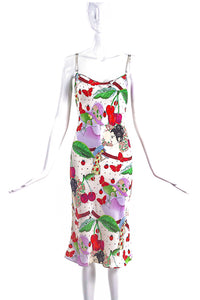 John Galliano Cherry Printed Silk Dress FW2003 - BOUTIQUE PURCHASE PRICE