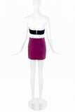 Ozbek Purple Knit Mini Stretch Skirt