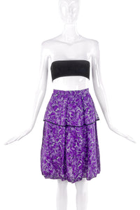 Yves Saint Laurent Purple Floral Chiffon Skirt - BOUTIQUE PURCHASE PRICE